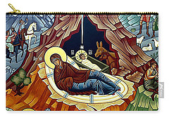 Orthodox Nativity Of Christ Carry-all Pouch by Munir Alawi