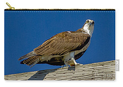 Osprey With Fish In Talons Carry-all Pouch by Dale Powell