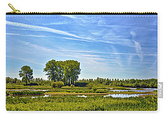 Carry-all Pouch featuring the photograph Ossenwaard Near Deventer by Frans Blok
