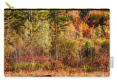 Carry-all Pouch featuring the photograph Cow Complaining About Much by Jeff Folger