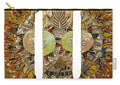 Carry-all Pouch featuring the tapestry - textile Osun Sun by Apanaki Temitayo M