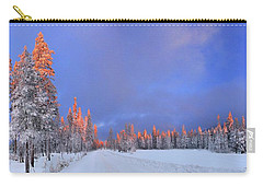 Other Side Of A Winter Sunset Carry-all Pouch by David Andersen