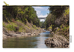 Carry-all Pouch featuring the photograph Ottauquechee River Flowing Through The Quechee Gorge by John M Bailey