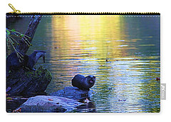Otter Family Carry-all Pouch by Dan Sproul