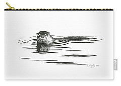 Otter In The Water Carry-all Pouch
