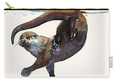 Otter Study II  Carry-all Pouch by Mark Adlington
