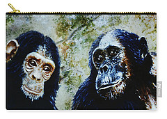 Carry-all Pouch featuring the painting Our Closest Relatives by Hartmut Jager