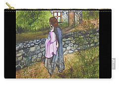 Our Lady Of Salem Carry-all Pouch by Virginia Coyle