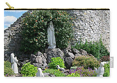 Our Lady Of The Woods Shrine Lll Carry-all Pouch by Michelle Calkins