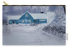 Our Little Cabin In The Snow Carry-all Pouch