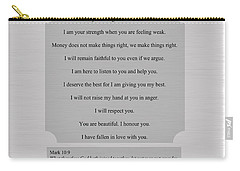 Our Promises Certificate Carry-all Pouch