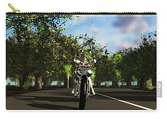 Carry-all Pouch featuring the digital art Out For A Ride... by Tim Fillingim