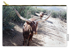 Out Of Africa  Long Horns Carry-all Pouch