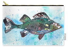 Carry-all Pouch featuring the painting Out Of School by Barbara Jewell