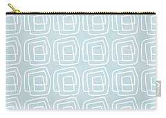Out Of The Box Blue And White Pattern Carry-all Pouch by Linda Woods