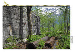 Carry-all Pouch featuring the photograph Out From The Past by Cathy Mahnke