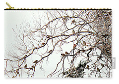 Carry-all Pouch featuring the photograph Out On A Limb First Snow by Barbara Chichester