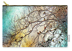 Out On A Limb In Jewel Tones Carry-all Pouch by Barbara Chichester