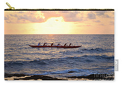 Outrigger Canoe At Sunset In Kailua Kona Carry-all Pouch