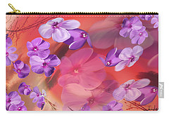 Carry-all Pouch featuring the painting Outside Inspirations by Janie Johnson