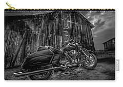 Outside The Barn Bw Carry-all Pouch