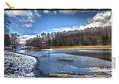 Carry-all Pouch featuring the photograph Over Da River N Thru Da Woods by Robert McCubbin