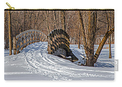 Over The River And Through The Woods Carry-all Pouch by Susan  McMenamin