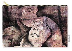 Carry-all Pouch featuring the painting Overlaps I by Paul Davenport