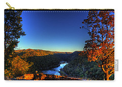 Carry-all Pouch featuring the photograph Overlook In The Fall by Jonny D