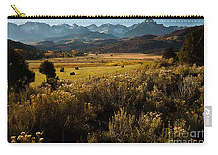 Overlook To Mt. Sneffles Carry-all Pouch by Steven Reed