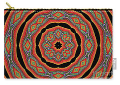 Orange Black  Beautiful Design. Art Carry-all Pouch by Oksana Semenchenko