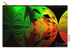 Carry-all Pouch featuring the photograph Art. Unigue Design.  Abstract Green Red And Black by Oksana Semenchenko