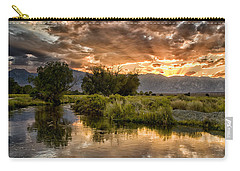 Owens River Sunset Carry-all Pouch by Cat Connor