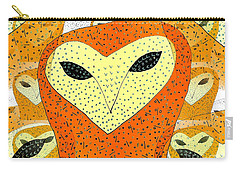 owl Carry-all Pouch by Barbara Moignard