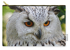 Carry-all Pouch featuring the photograph Owl Bird Animal Eagle Owl by Paul Fearn