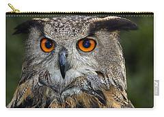 Owl Bubo Bubo Portrait Carry-all Pouch by Matthias Hauser