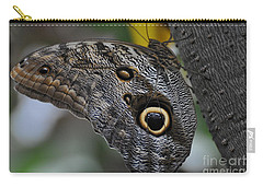 Carry-all Pouch featuring the photograph Owl Butterfly by Bianca Nadeau