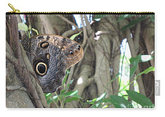 Owl Butterfly In Hiding Carry-all Pouch