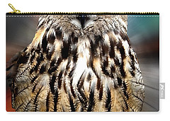 Owl Living In The Spanish Mountains Carry-all Pouch