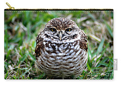 Carry-all Pouch featuring the photograph Owl. Best Photo by Oksana Semenchenko