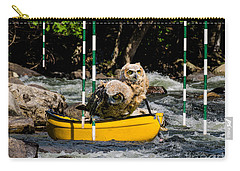 Owlets In A Canoe Carry-all Pouch