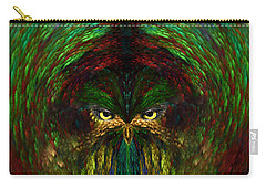 Carry-all Pouch featuring the digital art Owly Spirit - Fantasy Art By Giada Rossi by Giada Rossi