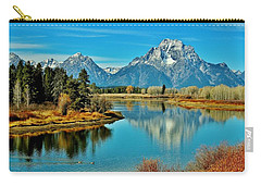 Carry-all Pouch featuring the photograph Oxbow Autumn by Benjamin Yeager