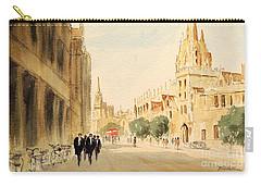 Carry-all Pouch featuring the painting Oxford High Street by Bill Holkham