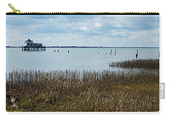 Oyster Shack And Tall Grass Carry-all Pouch