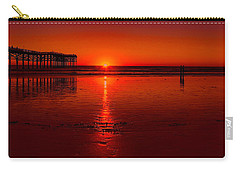 Pacific Beach Sunset Carry-all Pouch by Tammy Espino