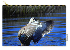 Carry-all Pouch featuring the photograph Pacific Black Duck by Miroslava Jurcik