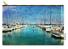 Paddle Boarder  In The Harbor Carry-all Pouch by Eleanor Abramson