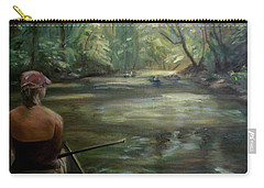 Carry-all Pouch featuring the painting Paddle Break by Donna Tuten