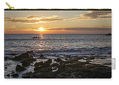 Paddlers At Sunset Horizontal Carry-all Pouch by Denise Bird